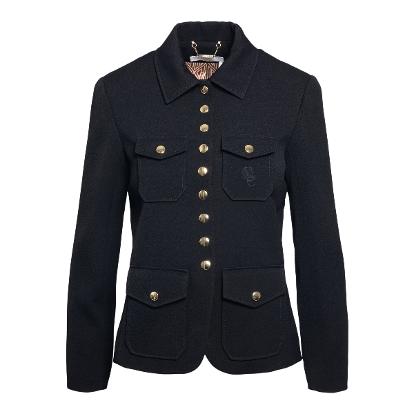Black blazer with gold buttons and pockets                                                                                                            Chloe' CHC21SVE16 front