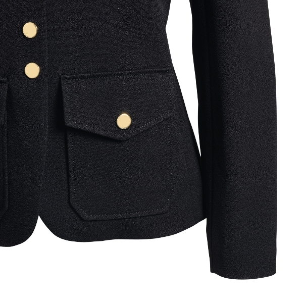 Black blazer with gold buttons and pockets                                                                                                             CHLOE'
