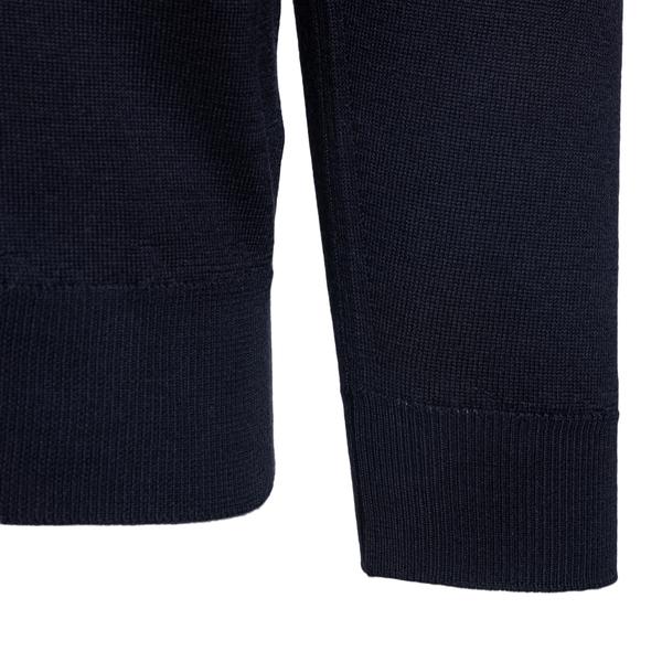 Cardigan blu con chiusura a zip                                                                                                                        JOHN SMEDLEY JOHN SMEDLEY