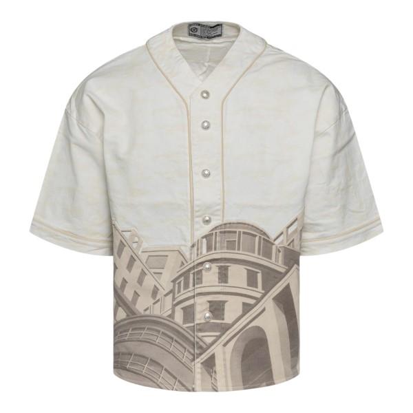 Camicia beige con stampa architetture                                                                                                                  FORMYSTUDIO                                        FORMYSTUDIO