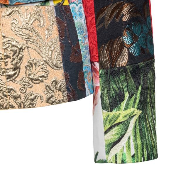 Multicolored patchwork style blazer                                                                                                                    DOLCE&GABBANA