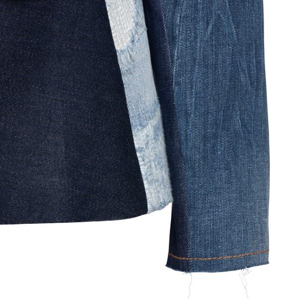 Patchwork-style blue denim jacket                                                                                                                      DOLCE&GABBANA