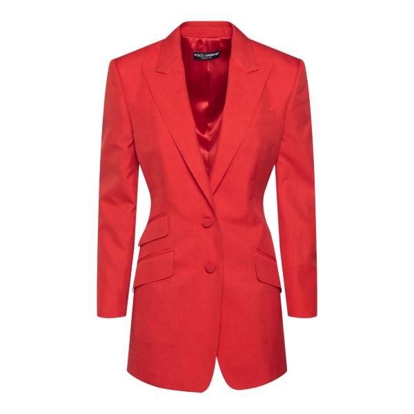Blazer rosso con tasche multiple                                                                                                                       DOLCE&GABBANA                                      DOLCE&GABBANA