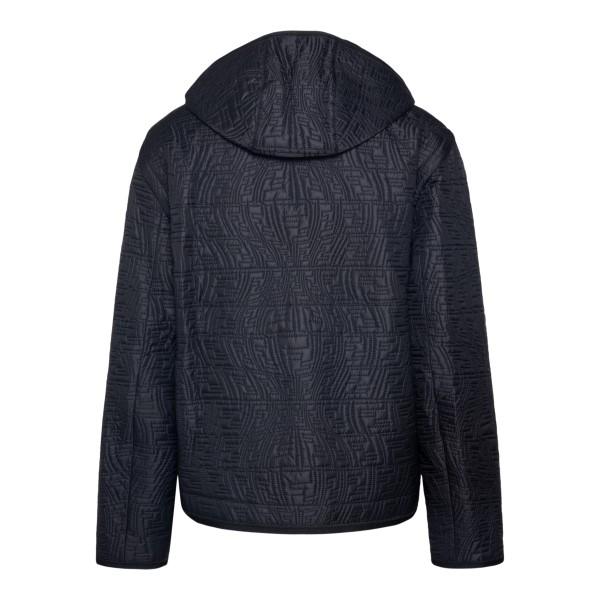 Giacca nera con pattern logo                                                                                                                           FENDI                                              FENDI