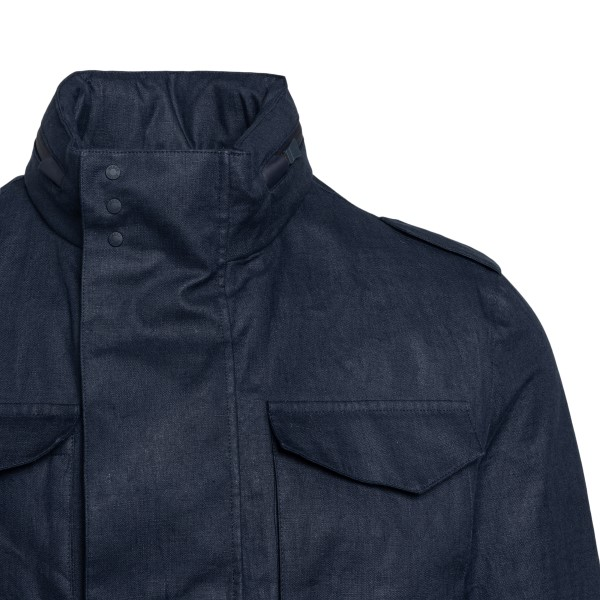 Giacca blu scuro con tasche                                                                                                                            HERNO HERNO