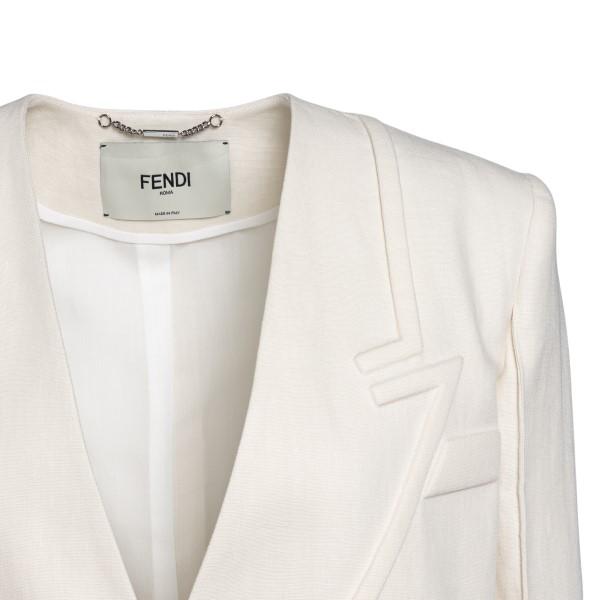 Giacca bianca con dettagli a rilievo                                                                                                                   FENDI FENDI