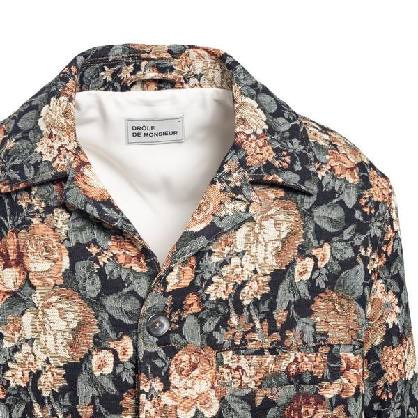 Giacca in tessuto jacquard floreale                                                                                                                    DROLE DE MONSIEUR                                  DROLE DE MONSIEUR