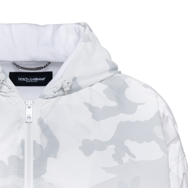 White camouflage layered jacket                                                                                                                        DOLCE&GABBANA