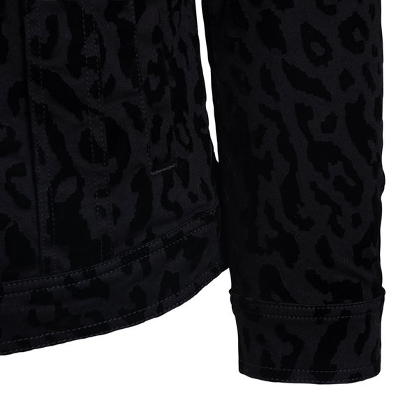 Black shirt with animalier motif                                                                                                                       DOLCE&GABBANA