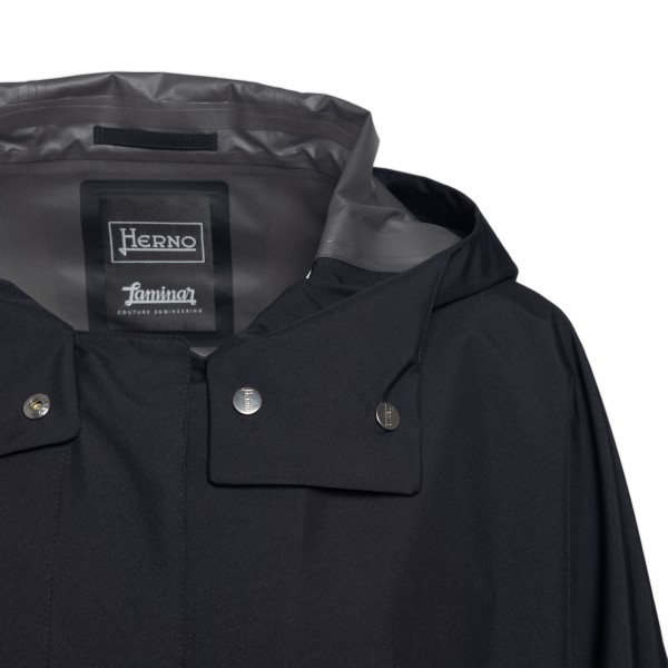 Long black trench coat with hood                                                                                                                       HERNO