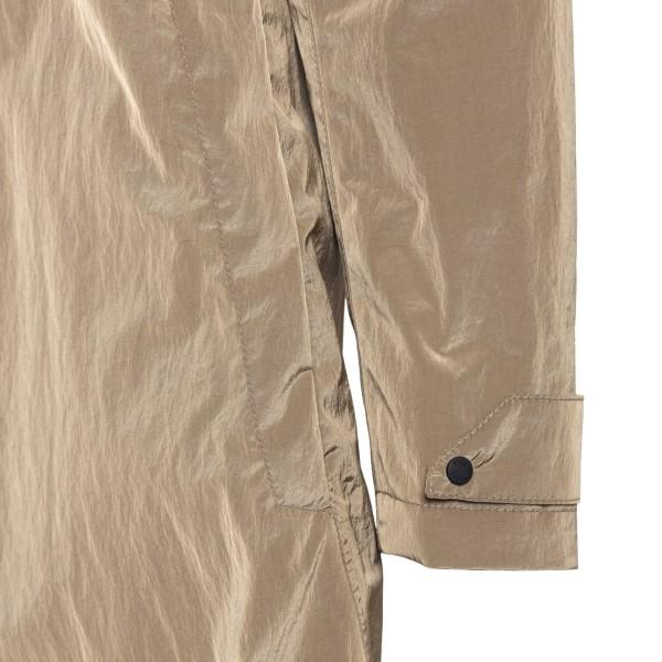 Shiny beige trench coat                                                                                                                                HERNO