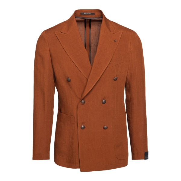 Double-breasted copper-colored blazer                                                                                                                 Tagliatore GDARREL20K back