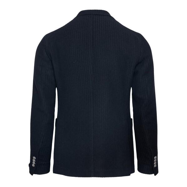 Blue ribbed blazer                                                                                                                                     TAGLIATORE