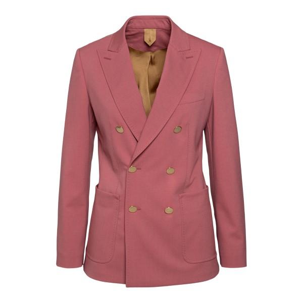 Double-breasted pink blazer                                                                                                                            MAX MARA
