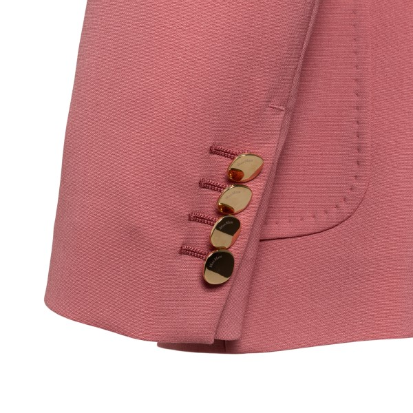 Double-breasted pink blazer                                                                                                                            MAX MARA