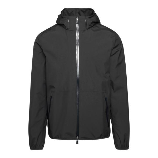 Giacca impermeabile nera con zip                                                                                                                       HERNO                                              HERNO