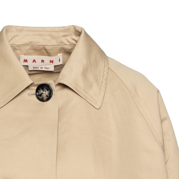 Flared beige jacket                                                                                                                                    MARNI