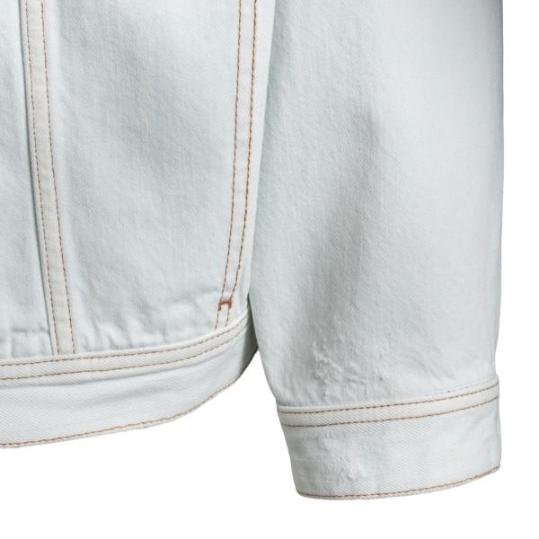 Light blue denim jacket with rear print                                                                                                                GOLDEN GOOSE