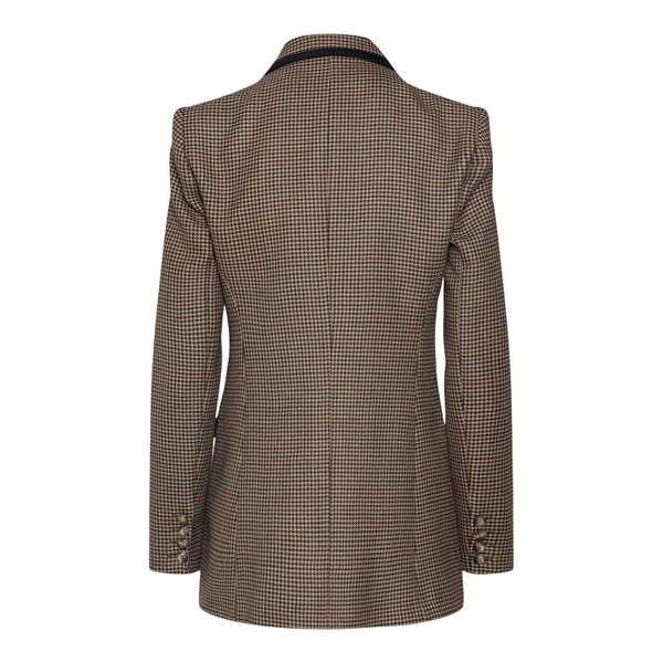 Double-breasted blazer in viscose blend                                                                                                                HEBE STUDIO