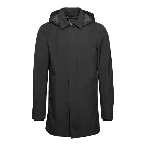 Black waterproof coat with hood                                                                                                                       Herno IM038UL front