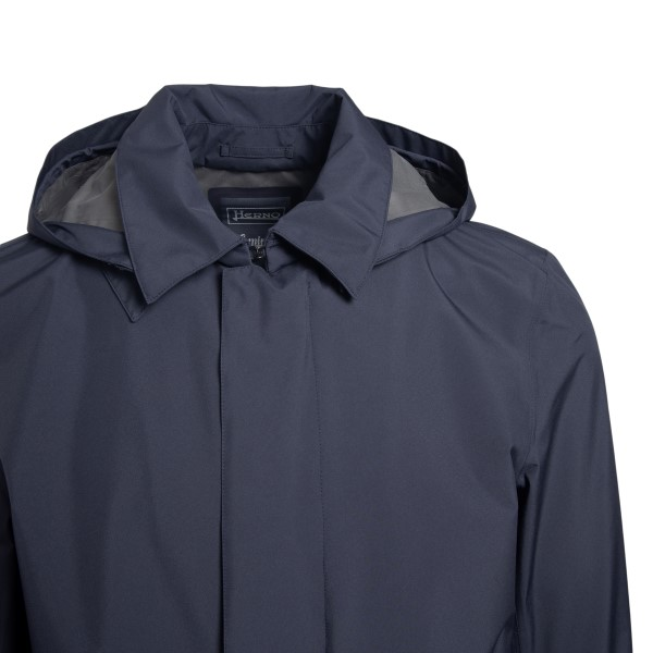 Dark blue waterproof coat with hood                                                                                                                    HERNO