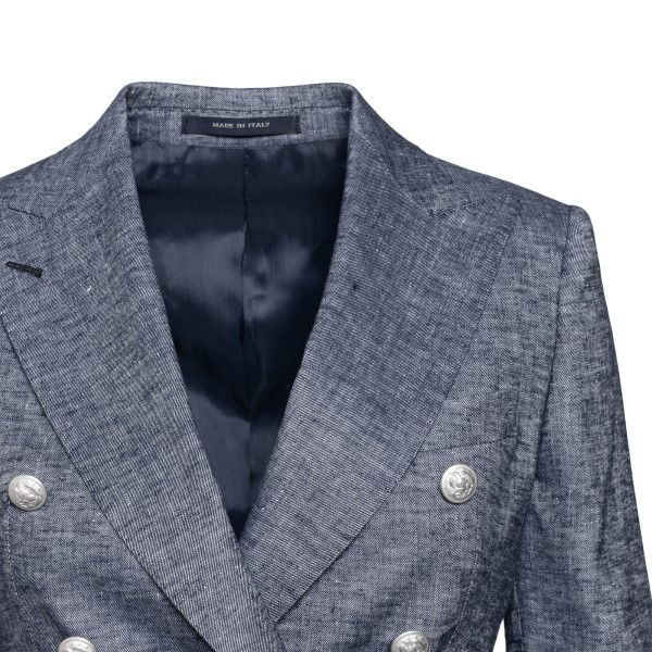 Double-breasted dark grey blazer                                                                                                                       TAGLIATORE