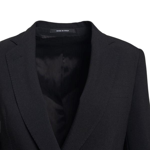 Black blazer with off-center closure                                                                                                                   TAGLIATORE