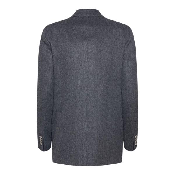 Double-breasted dark grey blazer                                                                                                                       TAGLIATORE