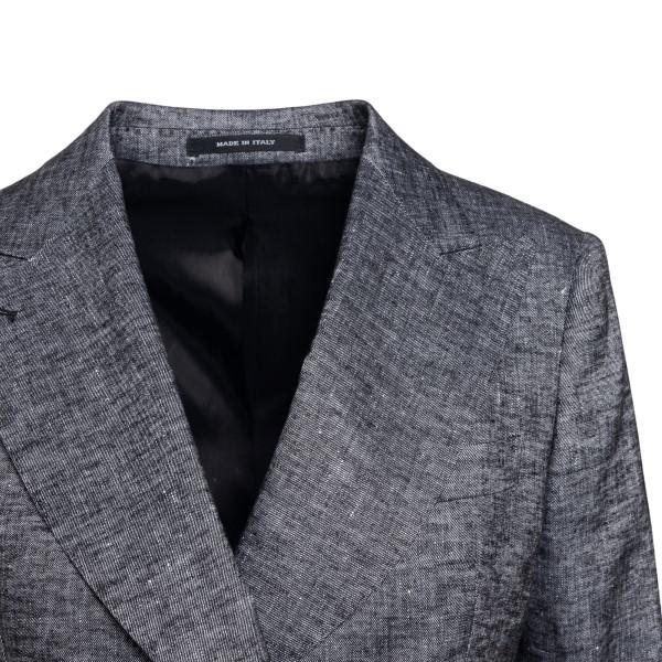 Double-breasted grey blazer                                                                                                                            TAGLIATORE