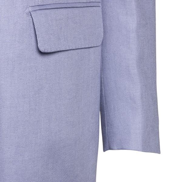 Long double-breasted lilac blazer                                                                                                                      TAGLIATORE