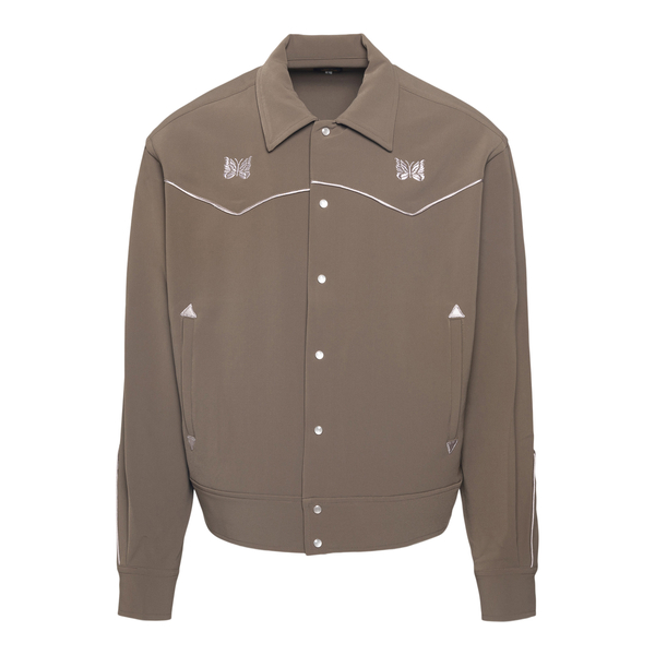 Military green shirt with embroidery                                                                                                                  Needles JO169 back