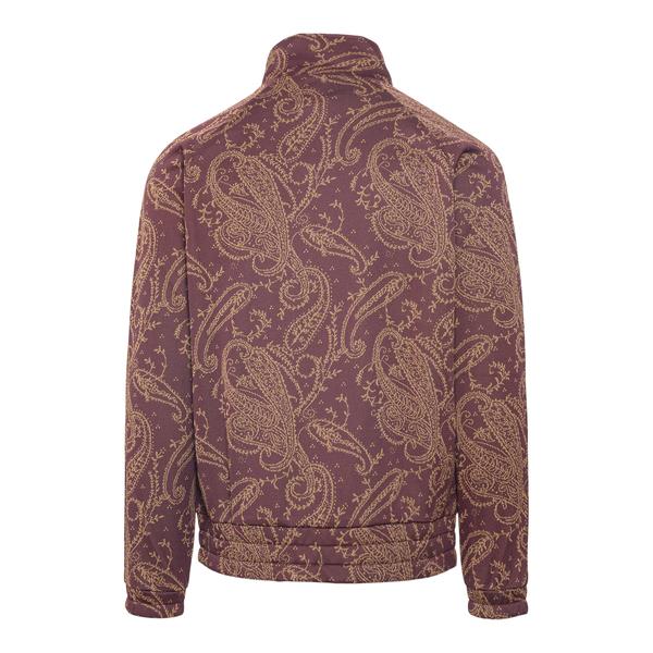 Burgundy sweatshirt with paisley print                                                                                                                 NEEDLES
