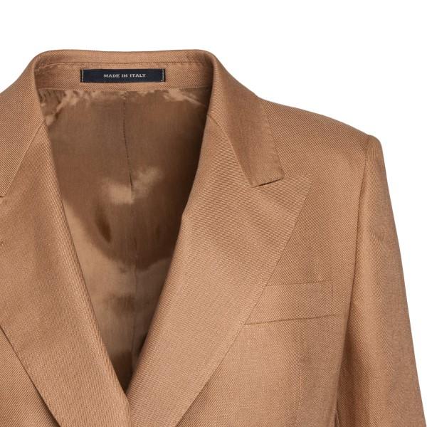 Long double-breasted hazelnut blazer                                                                                                                   TAGLIATORE