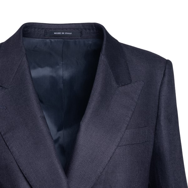 Long blue double-breasted blazer                                                                                                                       TAGLIATORE