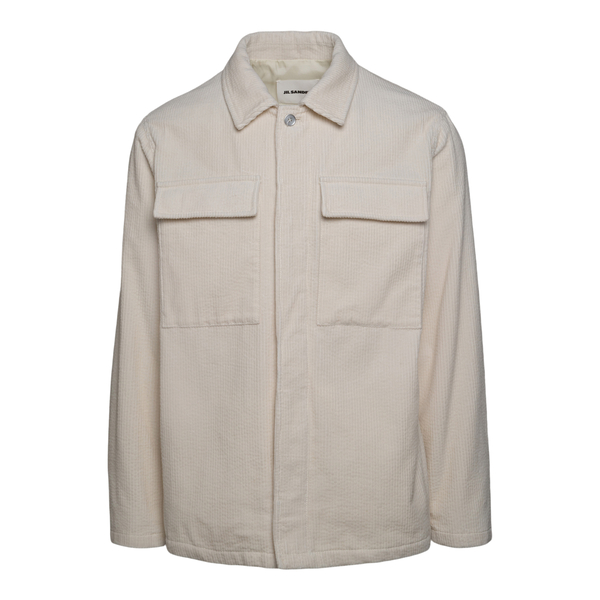 White ribbed shirt                                                                                                                                     JIL SANDER