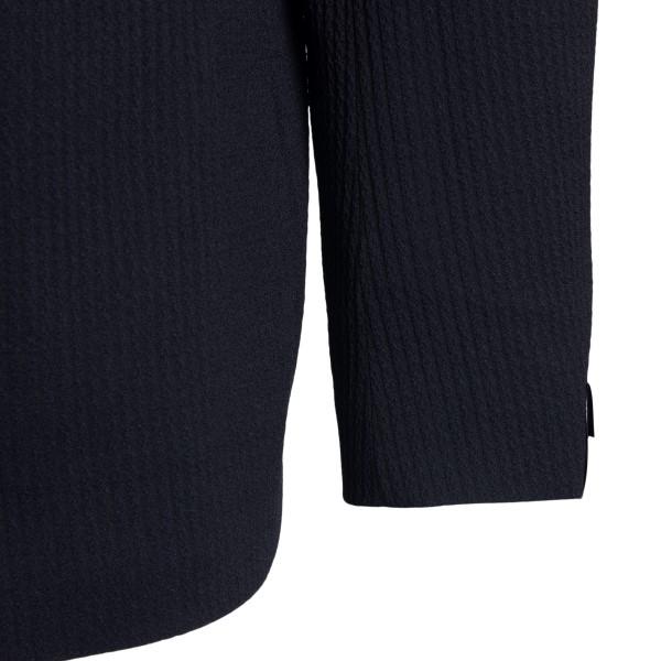 Blue blazer with striped texture                                                                                                                       TAGLIATORE