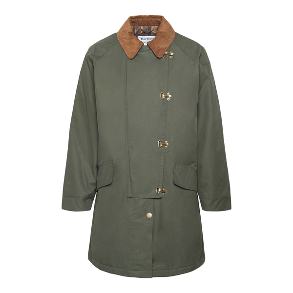 Military green jacket with hooks                                                                                                                       BARBOUR BY ALEXACHUNG