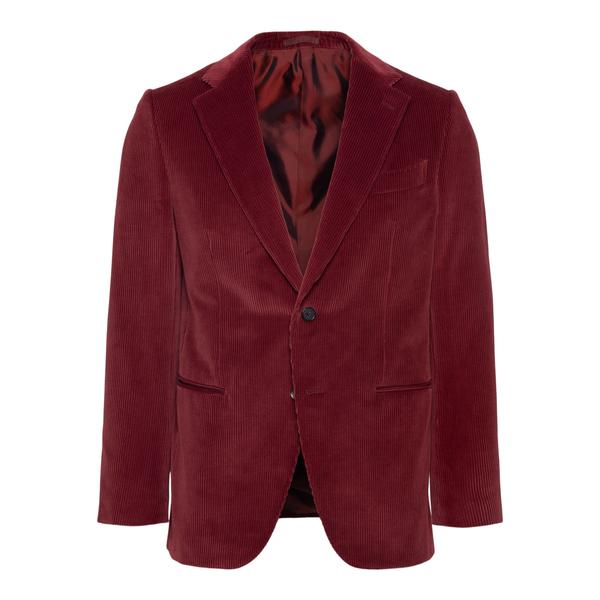 Red velvet blazer                                                                                                                                      CARUSO