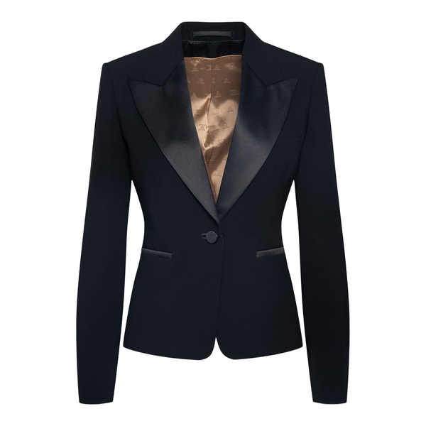 Elegant black blazer with pointed lapels                                                                                                              Max Mara MARTIN back