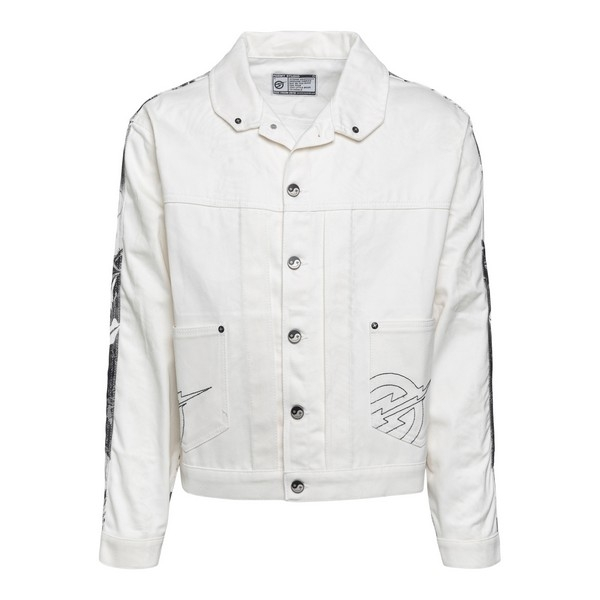 White jacket with print on the back                                                                                                                   Formystudio MIXEDPERSONALITIES front