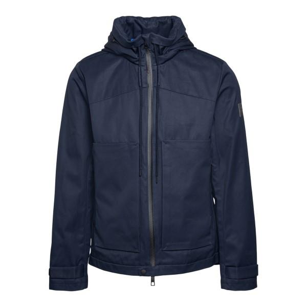 Blue waterproof jacket with logo patch                                                                                                                Tatras MTLA21S4130 back