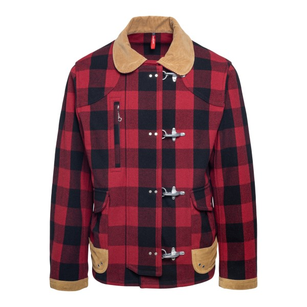 Red checked coat                                                                                                                                      Fay NAM12431510 back