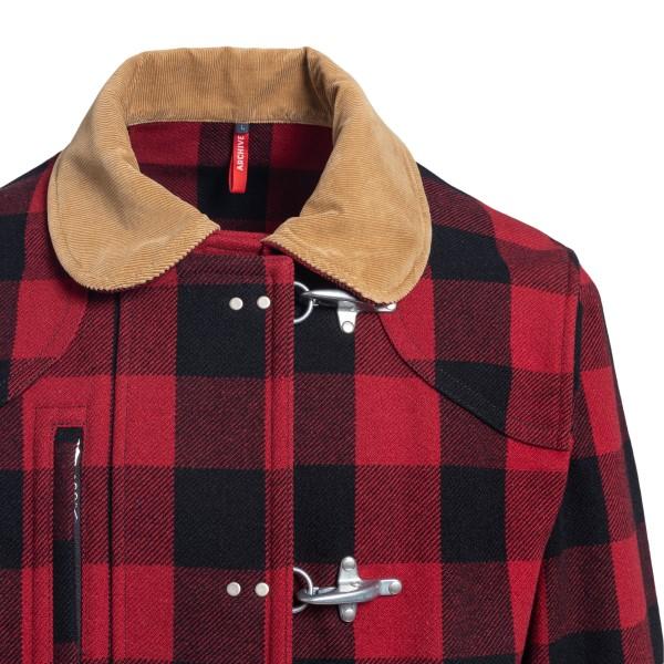 Red checked coat                                                                                                                                       FAY