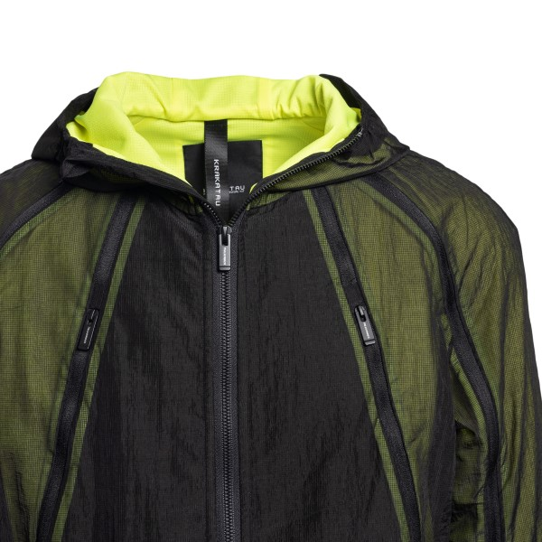 Black and fluo yellow layered jacket                                                                                                                   KRAKATAU