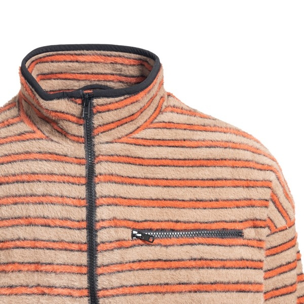 Stripes sweatshirt with soft-touch effect                                                                                                              PLEASURES