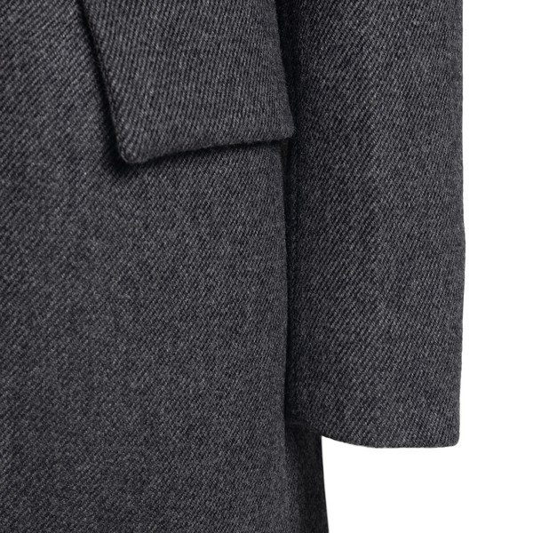 Dark grey single-breasted fitted jacket                                                                                                                PRADA