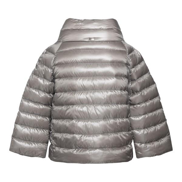 Opaque pearl grey down jacket                                                                                                                          HERNO