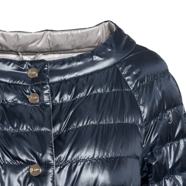 Blue down jacket with ring neckline                                                                                                                    HERNO