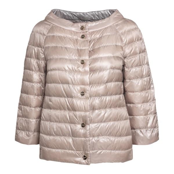 Beige down jacket with ring neckline                                                                                                                  Herno PI0769D front