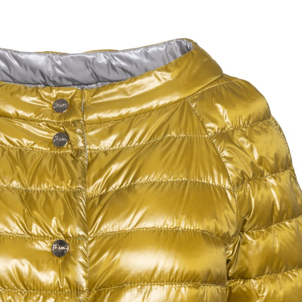 Yellow down jacket with ring neckline                                                                                                                  HERNO